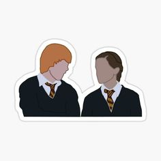 Estilo Harry Potter, Harry Potter More, Harry Potter Stickers, Ron And Hermione, Harry Potter Drawings, Harry Potter Tumblr, Harry Potter Hermione, Ron Weasley, Harry Potter Canvas