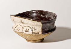 Momoyama Gallery Early Edo kuro Oribe Chawan
