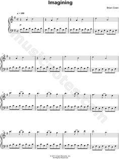 Imagining Piano Sheet Music by Brian Crain