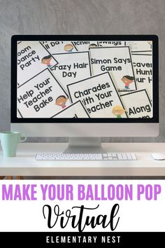 This end of the year activity is a free activity for VIRTUAL learning. This free balloon pop countdown activity is now incorporated with a digital theme of things that can be done with distance learning. Download the FREE end of the year activity for elementary students.