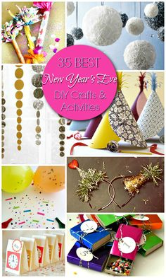 35 Best New Year's Eve DIY Activities and Crafts #DIY #Party