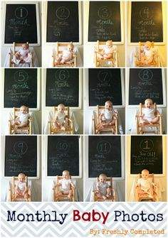 Monthy Baby Photo IDEAS and TIPS