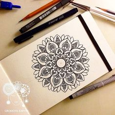 #Daily__Art #moleskine #молескин #мандала #графика #орнаме… | Flickr