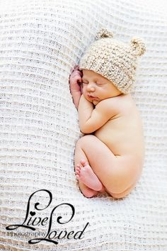Baby Boy Bear Hat Knit To Match Cocoon In Neutral by PhylPhil, $20.00