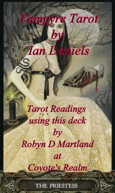 #Vampyre #Tarot #Priestess #Inaction #Inactivity #Intuition #Reflective #Perceptive #Illusion #Dreams  It is time now to meditate, find a stillness within yourself in order to find the answers.  Find out more at https://www.facebook.com/CoyotesRealm or https://plus.google.com/u/0/b/108756014475871724783/108756014475871724783/posts  #CoyotesRealm #RobynDMartland #Approved_Faulkner_Trainer #Tarot #Oracle #Pictish #Runes #Readings #Reiki & #Tarot #Courses #Cheshire
