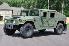 A Military Humvee. Someday when I win the lottery this would be fun to own!