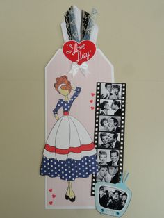 I Love Lucy prima doll tag - Lucille Ball - 1950's - Lucy & Desi