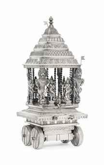 A SILVER MODEL OF A VAISNAVA CHARIOT