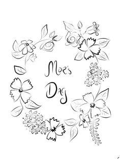 Morsdag doodle - DIY Sweden