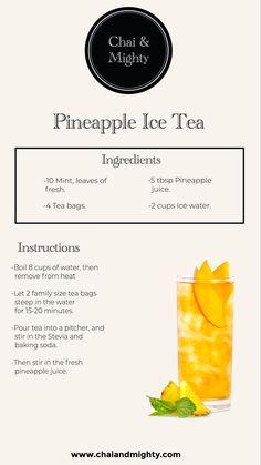 Chai & Mighty is the best tea brand in India. Buy loose tea leaves, tea bags, Assam/Darjeeling tea, white, oolong and green tea online. Summer Drinks, Fun Drinks, Healthy Drinks, Cold Drinks, Beverages, Iced Tea Recipes, Coffee Recipes, Plat Vegan, Homemade Tea