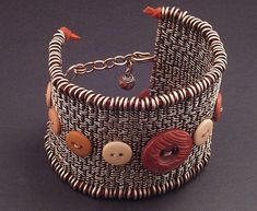 Twined Copper Button Cuff by MaryTucker, via Flickr