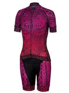 628be6640 One Tribe Womens Scarlet Jerseys Cycling Bib Shorts