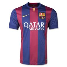 Here are the details of the 14/15 FCB home jersey from Nike's detailed release on the it: Nike and FC Barcelona today unveiled the new home kit for the 2014-15 season, uniting stars from the present first team and the future talent of the club as they look to next season and beyond.