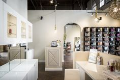 Studio Six Salon And Spa : Gig Harbor, Wa : Stained Concrete : Commercial  Interior