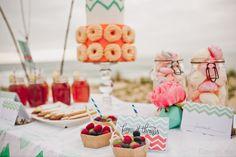 shooting mariage surf lacanau photographe davidOne dessert cocktail wedding bride groom mariée decoration