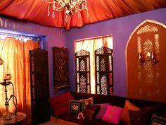 Before and After: Moroccan Living Room Redesign : Page 02 : Archive : Home & Garden Television Moroccan Style Bedroom, Moroccan Decor Living Room, Moroccan Room, Moroccan Theme, Moroccan Bedding, Moroccan Curtains, Moroccan Lounge, Modern Moroccan, Moroccan Design