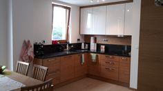 Obecnie mamy taką kuchnię. Podobają nam się fronty oraz ciemny balt, ewentualnie drewniane elementy.