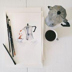 Moka pots and print making