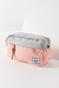 Stay organized with all your necessities on the go with this canvas travel kit from Herschel Supply Co. Compact dopp kit that fits everything you need on a trip with zipper closures at main compartment and outer pocket.