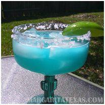 Blue Lagoon Margarita by Margarita Texas Alcoholic Lemonade Drinks, Pool Drinks, Fancy Drinks, Margaritas, Easy Margarita Recipe, Margarita Recipes, Blue Margarita, Blue Lagoon, Drink List