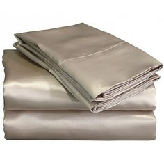 Chameuse Satin Sheet Set ($40) ❤ liked on Polyvore featuring home, bed & bath, bedding, bed sheets, king size fitted sheet, queen sheet set, twin xl flat sheet, king flat sheets and twin xl bedding