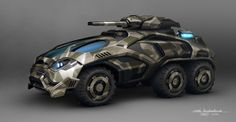 Futuristic Military Vehicles | ... vehicle concept art 9 Picture (2d, sci-fi, military, vehicle, apc