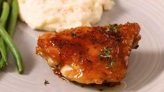 Garlic-Brown Sugar Chicken Thighs Chicken Thigh Recipes, Best Chicken Recipes, Turkey Recipes, Dinner Recipes, Fish Recipes, Dinner Ideas, Brown Sugar Chicken, Cooking Recipes, Healthy Recipes