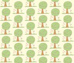 Garden Tree fabric by anikabee on Spoonflower - custom fabric