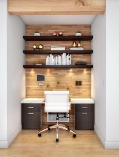 Build Your Complete Home Office at The Home Depot. We have everything you need to coordinate your dream Home Office in any style & color. Office Nook, Home Office Space, Home Office Desks, Home Office Furniture, Garage Office, Office Workspace, Furniture Layout, Cozy Office, Office Chic