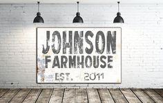 Family Name Sign - Wall Decor - Modern Farmhouse Sign