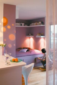 a small colorful apartment