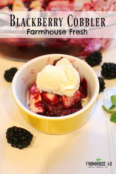 Blackberry Harvest Cobbler | Farmhouse 40 - Featured on #HomeMattersParty 100