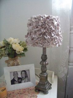 handmade lamp shades shabby chic lamp shades by BrooklynsBridal, $35.00