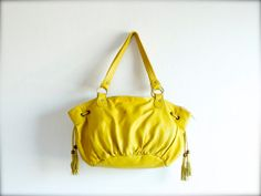 Tulip in Yellow / Yellow Leather Bag / by morelle, $149.00