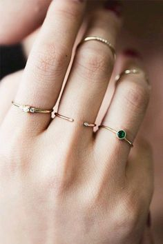 Jewels: gold ring, knuckle ring, prom beauty, prom, stacked jewelry - Wheretoget