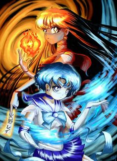 SAILOR MOON FAMILY | Sailor Moon- Sailor Mars And Sailor Mercury photo SailorMoon ...
