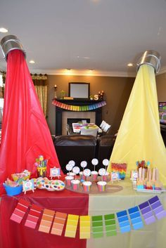 What a great art birthday party! See more party ideas at CatchMyParty.com! More