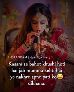 Haaye❤Sachii muchii 😂bht khushi hoti hai😂😂agree na? Cute Quotes For Girls, First Love Quotes, Couples Quotes Love, Muslim Love Quotes, Love Picture Quotes, Love Song Quotes, Love Husband Quotes, Crazy Girl Quotes, Girly Quotes