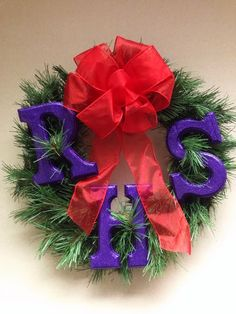 Red Hat Society Store Blog: Craft Corner: RHS Initial Christmas Wreath