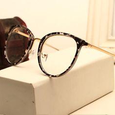 7af86c0ea613c Decoração do vintage Óculos Ópticos Quadro miopia rodada de metal das  mulheres dos homens unisex óculos