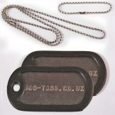 Military Embossed Dog Tags, Printed in the UK. Glastonbury 2013, Dog Tags, Dog Tag Necklace, Military, Dogs, Prints, Jewelry, Jewlery, Jewerly