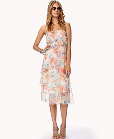 Layered Floral Print Maxi Dress | FOREVER 21 - 2052263440