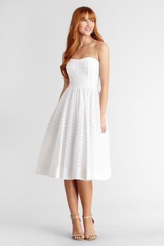 Our Lola lace sundress is the perfect piece for your summer wedding #DonnaMorgan #LWD