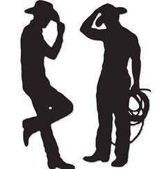 Hunky Cowboy Silhouettes make the perfect Bachelorette Party decoration for a Country Western theme Bachelorette Party