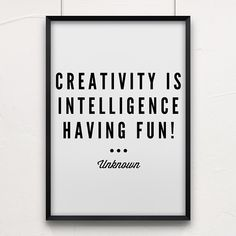 Love this quote! Have some fun this weekend 💭 Small Business Insurance, Creativity Quotes, Market Stalls, Have Some Fun, Letter Board, Marketing, Creative, Handmade, Hand Made