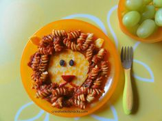 20 Awesome Fun Foods for Kids - Gourmandelle | Lion King Pasta Lunch
