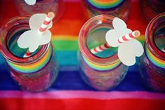 If you didn't know better, you may think that your super chill birthday was just recreated here at Kara's Party Ideas with this Vintage Rainbow Birthday Rainbow Party Decorations, Rainbow Parties, Rainbow Birthday Party, Rainbow Theme, 8th Birthday, Party Themes, Party Ideas, Kara, Cloud
