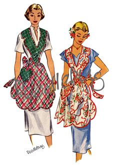 Vintage Apron Pattern Picture Art Print on by doodlebug46 on Etsy, $6.99