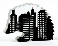 Items similar to Urban Hedgehog Glass Sculpture on Etsy Red Glass, Hedgehog, Urban, Sculpture, My Love, Prints, Etsy, Zelda, York