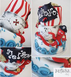 Pirate cake-LOVE the octopus!